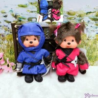 Monchhichi 20cm Plush Ninja Boy & Girl 日本 忍者 (一對) 271665+271672