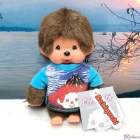 Monchhichi S Size Plush Japanese Tee - Red Mount Fuji 富士山 271940