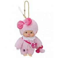Monchhichi Heart Eyes S Size Plush - Pink Girl 293130