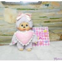 Monchhichi Macaron Color Mascot I Love Darling PURPLE 吊飾 鑰匙扣 293510