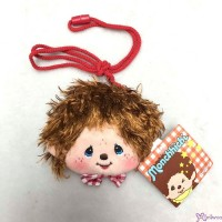 Monchhichi Mokomoko 11 x 9cm Plush Coin Bag BROWN with Zipper & Strap 錢包 293660