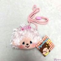Monchhichi Mokomoko 11 x 9cm Plush Coin Bag PINK with Zipper & Strap 錢包 293670