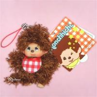 Sekiguchi Monchhichi Mokomoko 9cm Plush Mascot Brown Fur Boy 293700