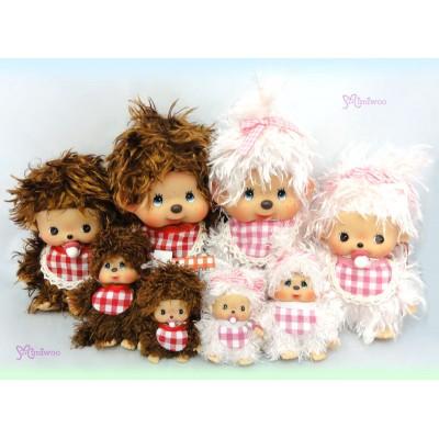 Sekiguchi Monchhichi Mokomoko Plush Doll 棉花毛毛女孩 293760