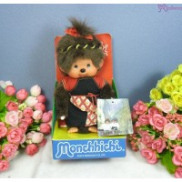Monchhichi Taiwan Limited S Size MCC Plush Traditional Fashion Black 2978TW-BK