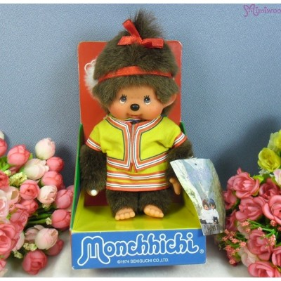 Monchhichi Taiwan Limited S Size MCC Plush Traditional Fashion Yellow 2978TW-YE