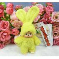 Monchhichi Mascot Japan Expo 2004 Bunny Ear MCC Ball Chain Yellow 306051