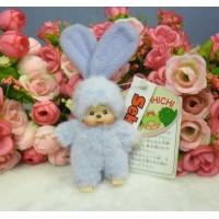 Monchhichi Mascot Japan Expo 2004 Bunny Ear MCC Ball Chain Purple 306112