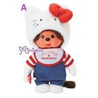 Hello Kitty x Monchhichi M Size Plush 25cm Limited 323816