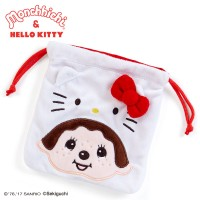 Hello Kitty x Monchhichi Small Pouch Bag 毛毛袋 324097