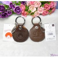 Monchhichi Cowhide Keychain Key Holder Dark Brown 日本製 牛革 鑰匙扣 40216