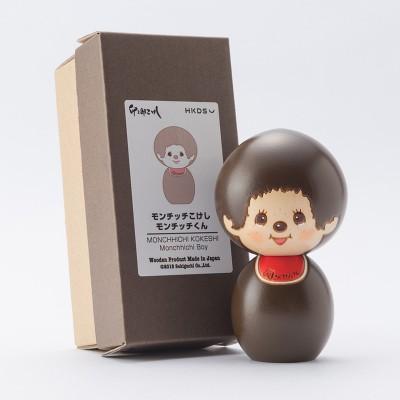 """Monchhichi Kokeshi Hand Made Wooden Craft 日本伝統工芸品 木雕 木製 公仔 (男) 444476 """"預訂"""""""