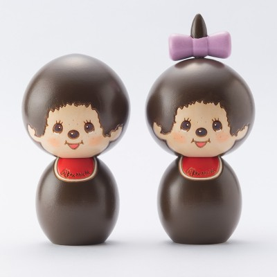 "Monchhichi Kokeshi Hand Made Wooden Craft 日本伝統工芸品 木雕 木製 公仔 (女) 444483 ""預訂"""