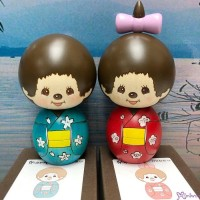 Monchhichi Kokeshi Hand Made Wooden Craft Ver 2 日本伝統工芸品 木雕 木製 公仔 (男+女) 444490+444506