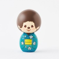 Monchhichi Kokeshi Hand Made Wooden Craft Ver 2 日本伝統工芸品 木雕 木製 公仔 (男) 444490