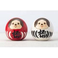 Monchhichi Kokeshi Wooden Daruma Red & White 日本伝統工芸品 木雕 木製 達摩 公仔 445565+445572