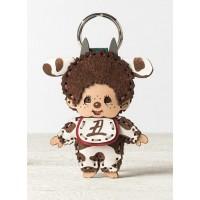 OJAGA DESIGN x Monchhichi Genuine Leather Mascot Cow Boy 446272  ~ LAST ONE  ~