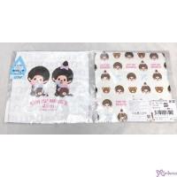 Monchhichi Baby Handkerchief M Size 45th Anniversary Happy Trip 日本製 今治 雙面 手帕 478491