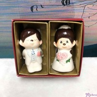 Monchhichi Ceramics Western Wedding Figure 7cm 陶瓷 結婚公仔 (PAIR) 499052