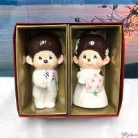 Monchhichi Ceramics Western Wedding Figure 12cm 陶瓷 結婚公仔 (PAIR) 499069