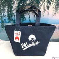 Monchhichi Sport 2020  W20 x D17 × H21cm  Hand Bag Navy 全棉 手挽 布袋 700199
