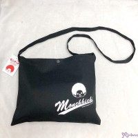 Monchhichi Sport 2020  W30 x H23cm 100% Cotton Hand Bag Navy 斜孭 啪鈕 布袋 700250
