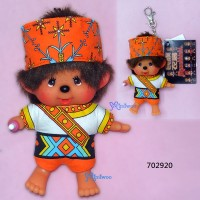 Monchhichi SS 大頭 中國民族 吊飾 Big Head Mascot Tribe Amis 702920