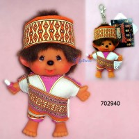 Monchhichi SS 大頭 中國民族 吊飾 Big Head Mascot Tribe Atayal Boy 702940