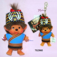 Monchhichi SS 大頭 中國民族 吊飾 Big Head Mascot Tribe Bunun 702960