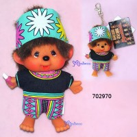 Monchhichi SS 大頭 中國民族 吊飾 Big Head Mascot Tribe Puyuma 702970