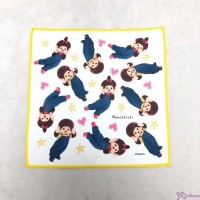 Monchhichi 100% Polyester 20.5 x 20.5cm Handkerchief 日本製 手帕 704736