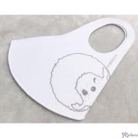 Monchhichi 12 x 30cm 可清洗重用 冰涼 口罩 Ice Silk Mask White Boy  732752