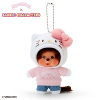 Hello Kitty x Monchhichi 15cm Plush Mascot 7501