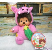 Monchhichi Okinawa Limited Plush Pink Shisa with Goya 沖繩 限定 守護神 獅子 苦瓜 760830