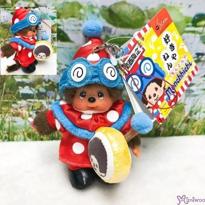 Monchhichi Mascot Phone Strap - Marching Band 関西限定 - 步操 打鼓 吊飾 778140