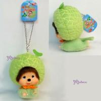 Big Head Monchhichi Keychain Mascot -  Wolf Melon 大頭 飛天 蜜瓜 780090