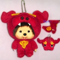Monchhichi Big Head Mascot Shisa Red 沖繩 守護神 獅子 吊飾 780270