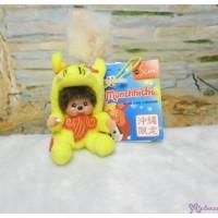 Monchhichi Mascot Shisa Yellow 沖繩 守護神 獅子 吊飾 780950