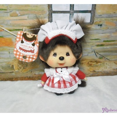 Monchhichi Big Head Maid Keychain Mascot 秋葉原 限定 大頭 女僕 吊飾 787760