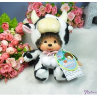 Monchhichi 北海道 地區限定 軟頭 坐姿 乳牛 Soft Head 18cm Cow 791330