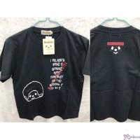 Monchhichi 100% Cotton Fashion Adult Tee Laughing Boy M Size Black 824639