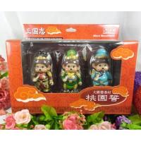 Micro Monchhichi Figure - 三國志 桃園誓 三國 劉備 張飛 關羽 831700