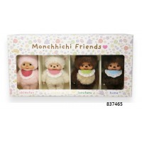 SFDS Monchhichi Friends S Size Bunny Bear Sheep Raccoon (4pcs Box Set) 837465 ~ RARE ~