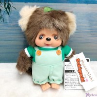Monchhichi Friend S Size I Love Overall Tanu Tanu Raccoon (Japan Limited) 838622