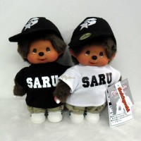 Santastic Wear x Monchhichi S Size Plush SARU Black & White 843690+843710