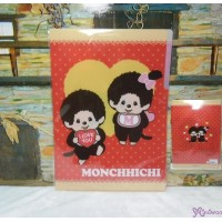 Monchhichi Stationery - 三格 File Red 862058