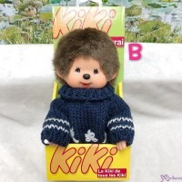 KiKi Monchhichi S Size Plush Blue Knit Fashion Boy 929030-B