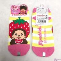 Monchhichi Fukuoka Limited Cotton Adult Socks Strawberry (Size 22-24cm) 972242