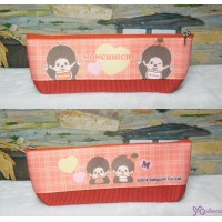 Monchhichi 三角形 筆袋 手袋仔 20cm Bag Red ~ 日本製造 ~ 983487