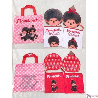 Monchhichi 15 x 15cm Polyester Small Handbag Bag - Big Head Girl 袋仔 CAP01-C